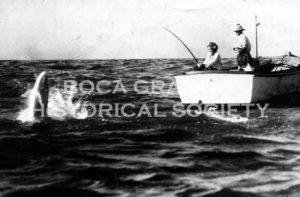Tarpon fishing, Boca Grande Pass, 1933