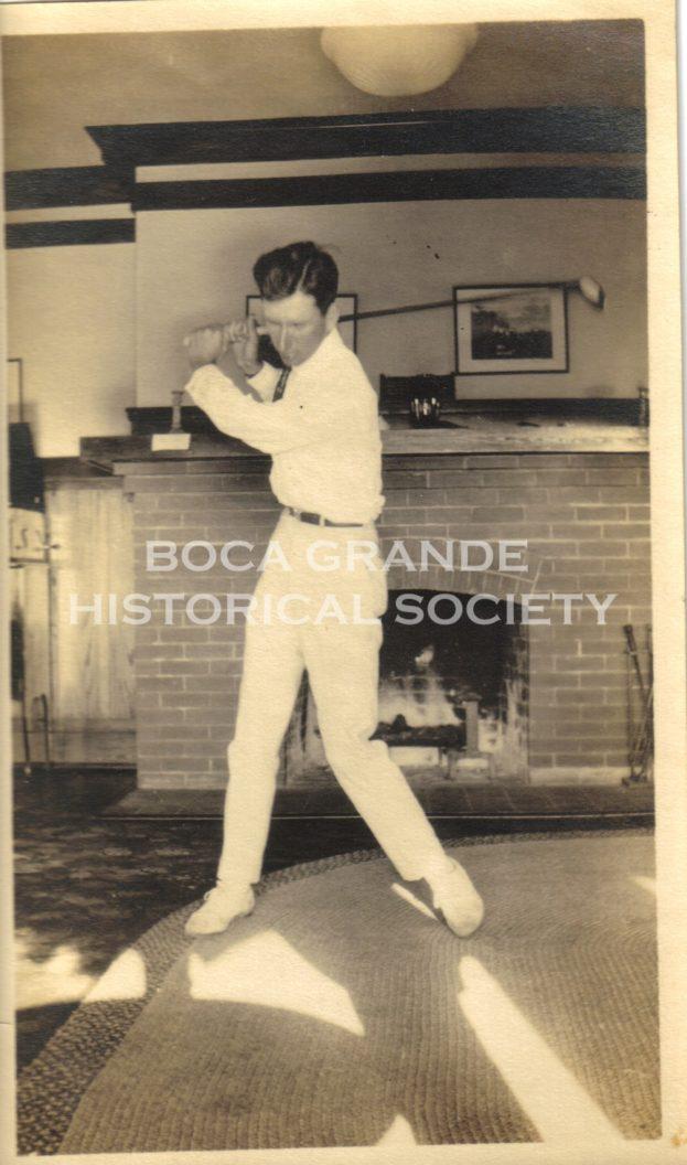 Harry Cowie (golf pro) at the Gasparilla Inn c  1918