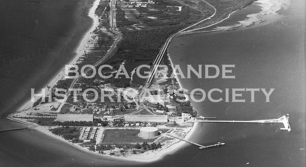 Historic Aerial Photo of Boca Grande, Florida