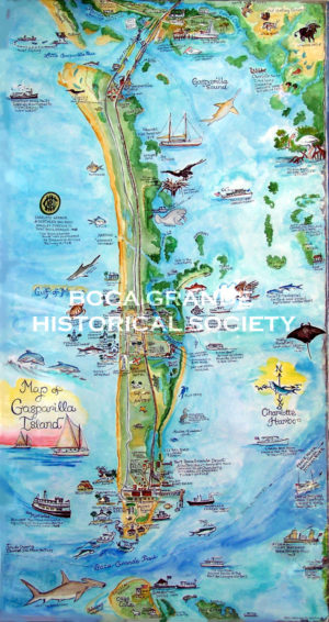 Map of Gasparilla Island by Patti Middleton