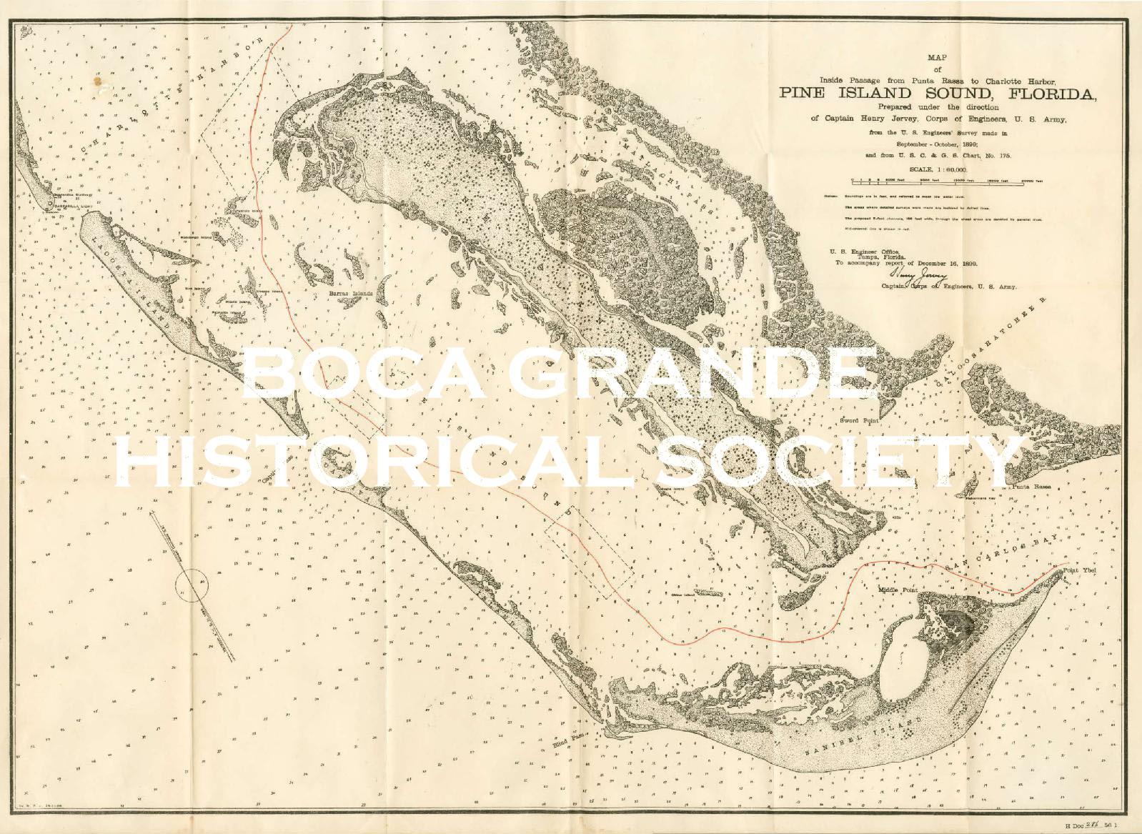 Map of Pine Island Sound 1899