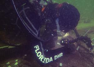 Diver Excavating