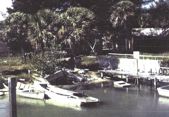 old photo of boat dock