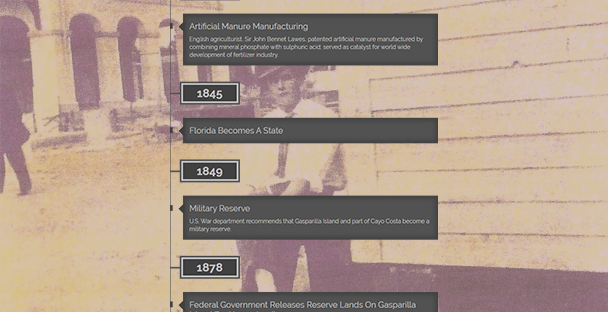 Screenshot of Timeline with man sitting in background next to building