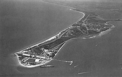 aerial of Port Boca Grande 1963