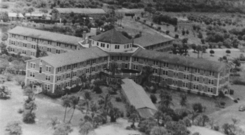 aerial shot of hotel