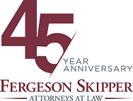Fergeson Skipper Attorneys at law logo with additional text: 45 year anniversary