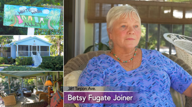Photo Collage including photo of Betsy Fugate Joiner and an old florida style house