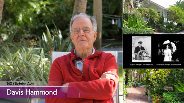 photo collage showing David Hammond and house with many plants around it