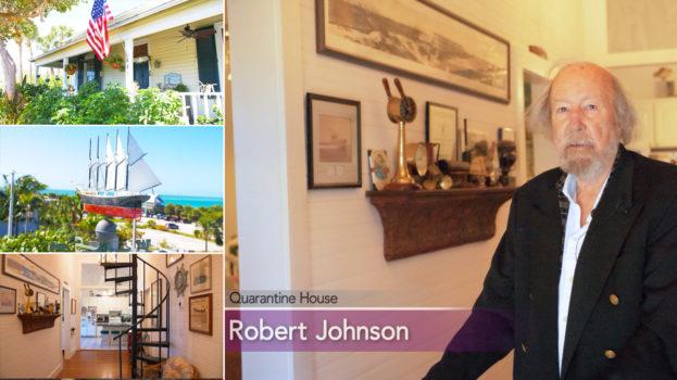 photo collage showing Robert Johnson and Boca Brande's old Quarantine House