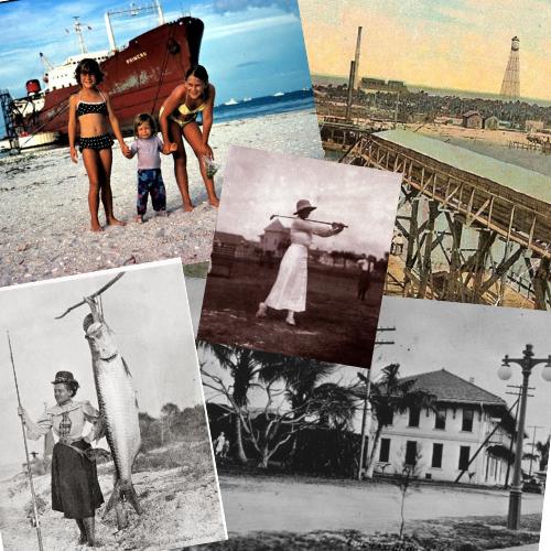 historic photo collage of Boca Grande